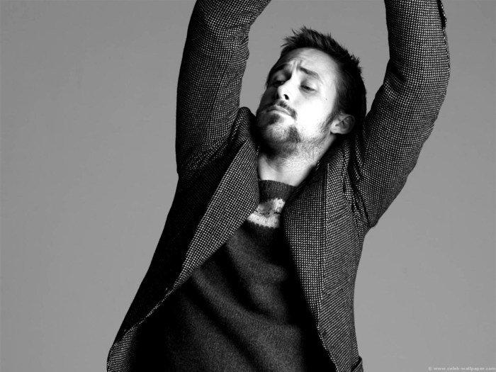 Ryan Gosling BW Movie Actor 32x24 Print Poster