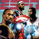 Lebron Kobe Durant NBA Marvel Comics Art 16x12 Print POSTER