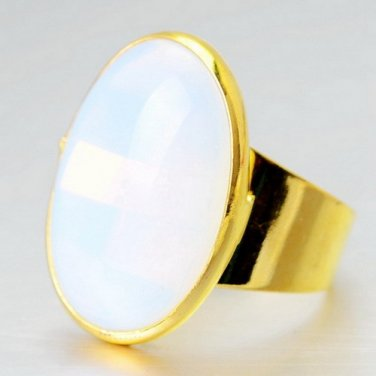 Oval Natural Quartz ring