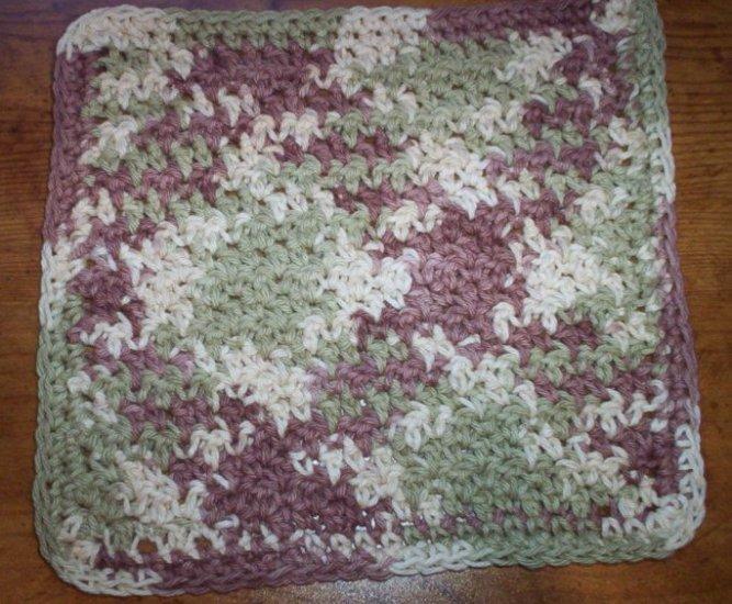 100% Cotton Crochet Dishcloth Earthtones
