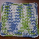 100% Cotton Crochet Dishcloth Cool Breeze