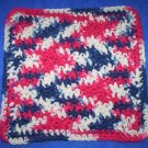 100% Cotton Crochet Dishcloth Faded Glory