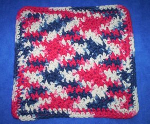 100% Cotton Crochet Dishcloth Faded Glory