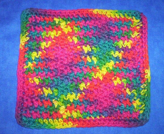 100% Cotton Crochet Dishcloth Fiesta