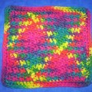 100% Cotton Crochet Dishcloth Fiesta