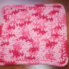 100% Cotton Crochet Dishcloth Florals