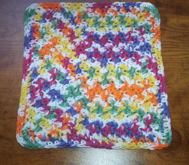 100% Cotton Crochet Dishcloth Gumdrop