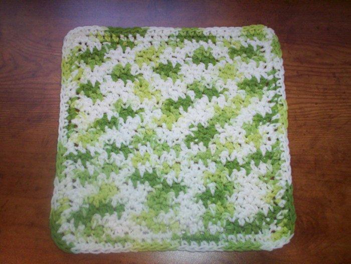 100% Cotton Crochet Dishcloth Key Lime Pie
