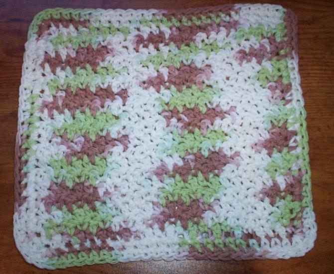 100% Cotton Crochet Dishcloth Landscapes