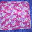 100% Cotton Crochet Dishcloth Patio Pinks