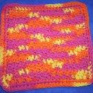 100% Cotton Crochet Dishcloth Playtime
