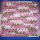 100% Cotton Crochet Dishcloth Rosewood