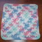 100% Cotton Crochet Dishcloth Shaded Pastels
