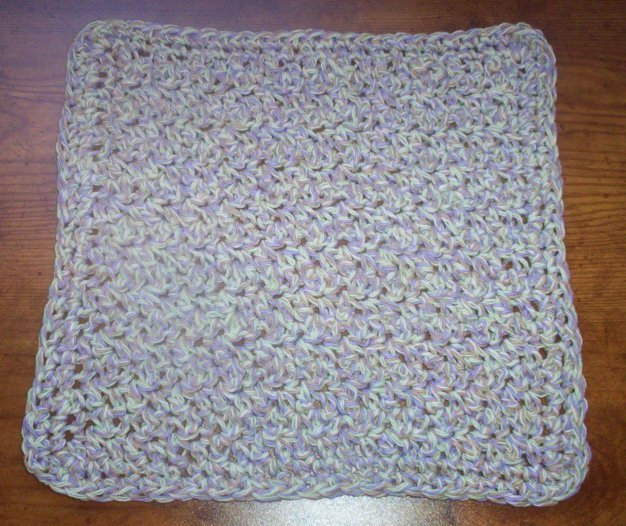 100% Cotton Crochet Dishcloth Summer Twist