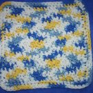 100% Cotton Crochet Dishcloth Sunkissed