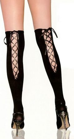 Free Ship-Back Tie Up Stay Up Thigh-Highs Stockings Tights Panty