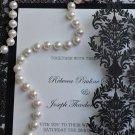 Damask Laser Cut A9 Wedding Invitation - 25 Count