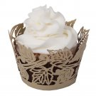 Autumn Leaves Laser Cut Cupcake Wrapper - 25 Count