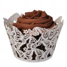 Butterflies Laser Cut Cupcake Wrapper - 25 Count