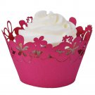 Happy Flowers Laser Cut Cupcake Wrapper - 25 Count