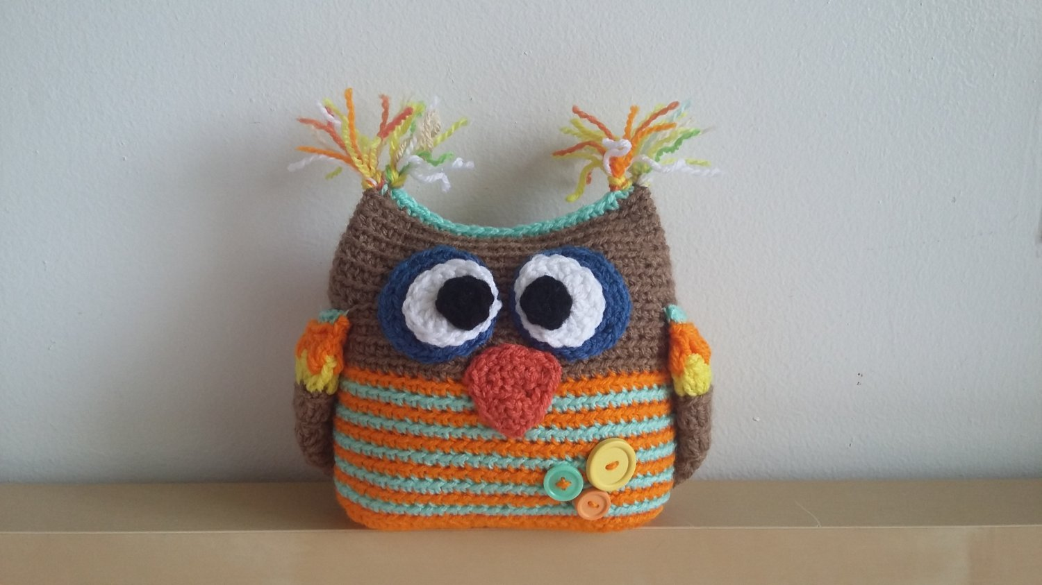 Crochetted owl