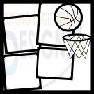12x12 Photo Basketball Template Scrapbook Overlay