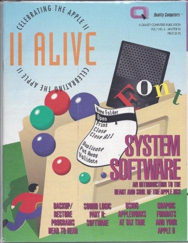 II Alive Magazine, January / February 1994, for Apple II II+ IIe IIc IIgs