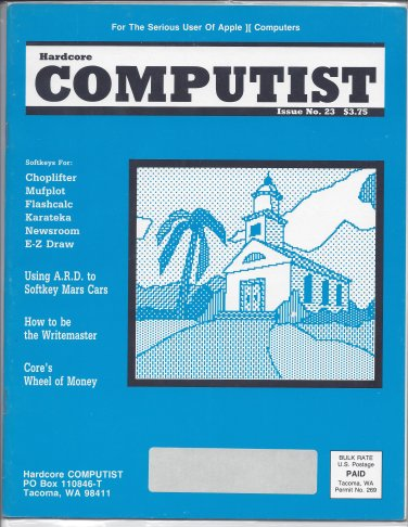 Hardcore Computist Magazine, Issue 23, for Apple II II+ IIe IIc IIgs