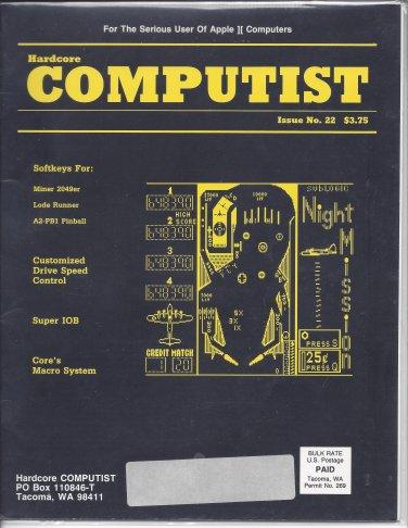 Hardcore Computist Magazine, Issue 22, for Apple II II+ IIe IIc IIgs