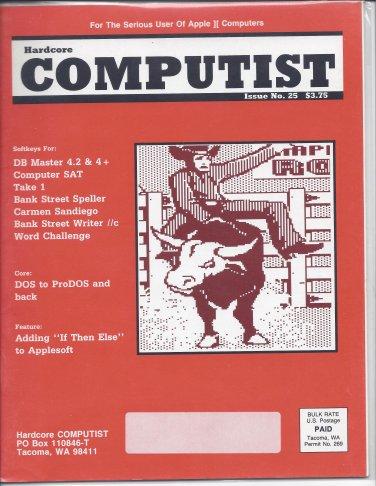 Hardcore Computist Magazine Issue 25, for Apple II II+ IIe IIc IIgs