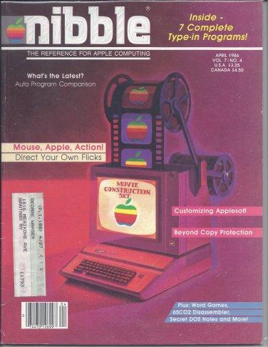 Nibble Magazine, April 1986, Marked, for Apple II II+ IIe IIc IIgs