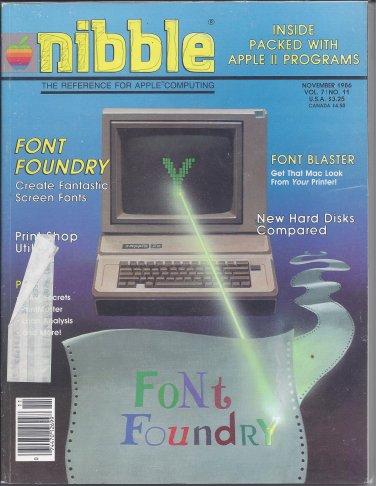 Nibble Magazine, November 1986, Marked, for Apple II II+ IIe IIc IIgs