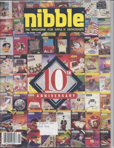 Nibble Magazine, January 1990, for Apple II II+ IIe IIc IIgs