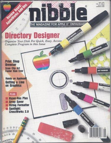 Nibble Magazine, May 1990, for Apple II II+ IIe IIc IIgs