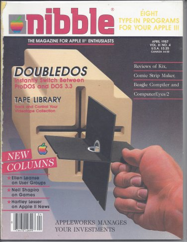 Nibble Magazine, April 1987, for Apple II II+ IIe IIc IIgs