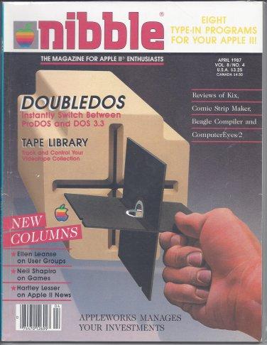 Nibble Magazine, April 1987, Marked, for Apple II II+ IIe IIc IIgs