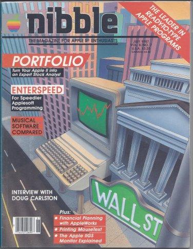 Nibble Magazine, July 1987, for Apple II II+ IIe IIc IIgs