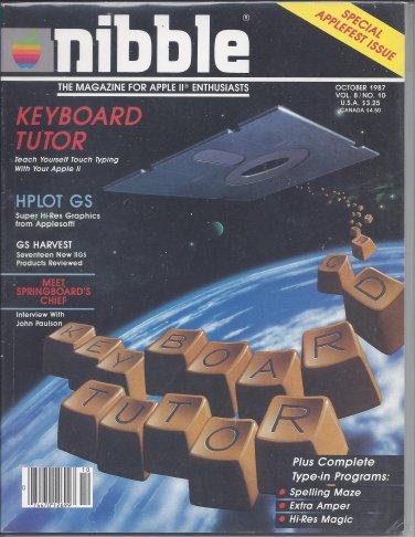 Nibble Magazine, October 1987, for Apple II II+ IIe IIc IIgs