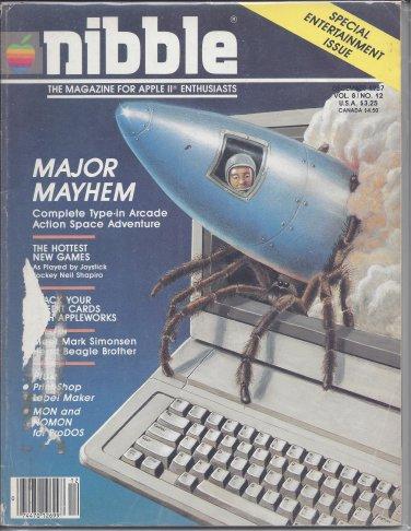 Nibble Magazine, November 1987, Cover Damaged, for Apple II II+ IIe IIc IIgs