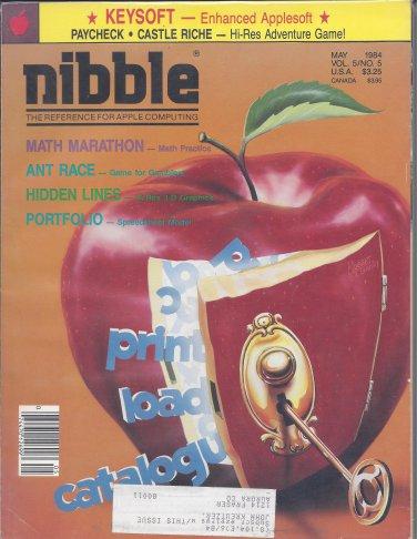 Nibble Magazine, May 1984, for Apple II II+ IIe IIc IIgs
