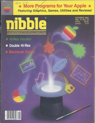 Nibble Magazine, October 1984, for Apple II II+ IIe IIc IIgs