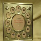 "MY BABY'S ""FIRST YEAR"" PICTURE FRAME....SILVER METALLIC...7 1/4"" X 9 1/4"""