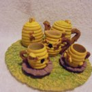 "YELLOW BEEHIVE  MINATURE TEA SET.....10 PC..PLATE 6"" IN DIAMETER"