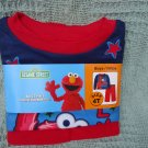 BLUE & RED ELMO TWO PIECE PAJAMA SET.SIZE 4T...SO CUDDLY!!!!SESAME STREET