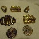 VINTAGE LADIES BELT BUCKLES...SET OF SIX...ESTATE SALE FIND...GOLDTONE