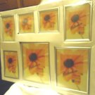 7 PACK OF MODERN WALL HANGING FRAMES....VARIETY OF SIZES....SILVERTONE...