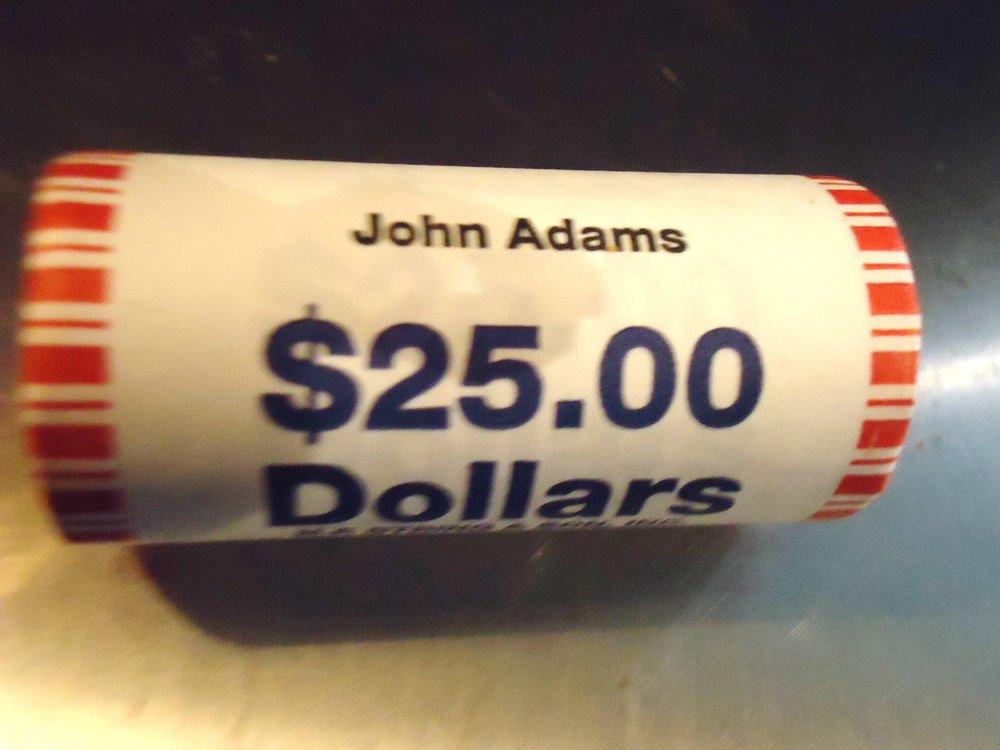 2007  John Adams Presidential Dollar ROLL of 25 Philadelphia $25 BU UNC