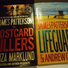 POSTCARD KILLER & LIFEGUARD  BY JAMES PATTERSON ... 1ST EDITION...HARDCOVER