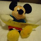 MICKEY MOUSE WITH RULER STUFFED PLUSH TOY FROM THE DISNEY STORE.