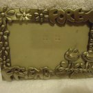"""FRIENDS FOREVER"" PICTURE PHOTO FRAME 3"" X 5"" PHOTOS.. SILVERTONE METAL"